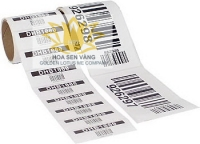 Paper label barcode